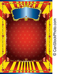 affiche, cirque, heureux