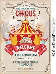 affiche, cirque, publicité