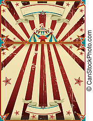 affiche, cirque, sale