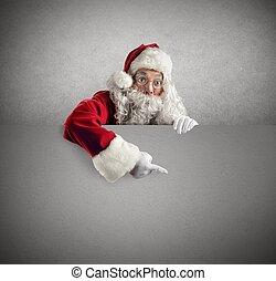 affiche, claus, santa