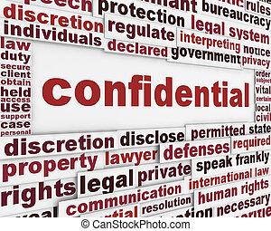 affiche, concept, confidentiel