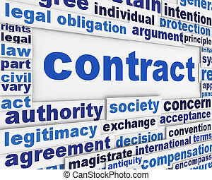 affiche, concept, contrat