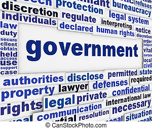 affiche, concept, gouvernement