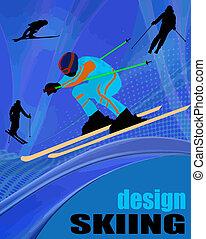 affiche, conception, ski