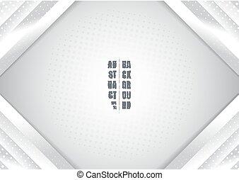 affiche, couleur, résumé, coin, usage, arrière-plan., gradient, présentation, gabarit, impression, géométrique, effet, toile, halftone, brochure, bannière, blanc gris, boîte, vous, annonce, etc.