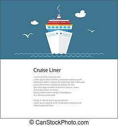 affiche, croisière bateau