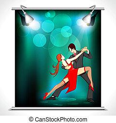 affiche, danseur