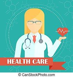 affiche, docteur médical