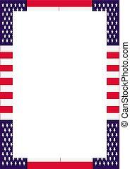 affiche, drapeau, usa