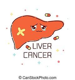 affiche, foie, cancer