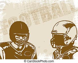 affiche, football américain