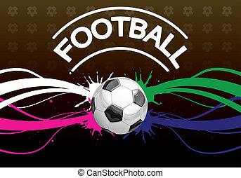 affiche, football
