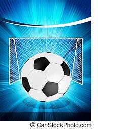 affiche, football, eps, 8, football, ball.