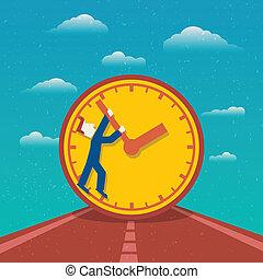 affiche, gestion, temps