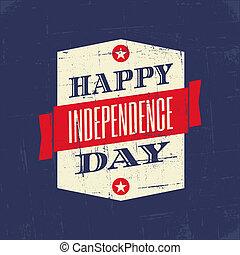 affiche, jour, indépendance