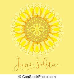 affiche, juin, solstice