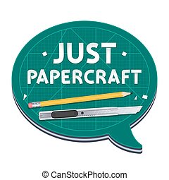 affiche, juste, papercraft