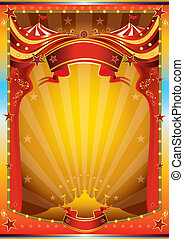 affiche, multicolore, cirque