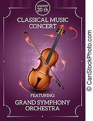 affiche, musique, classique
