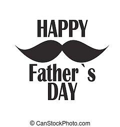 affiche, père, illustration, vecteur, jour, carte, heureux