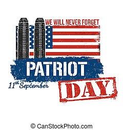 affiche, patriote, jour, carte, ou