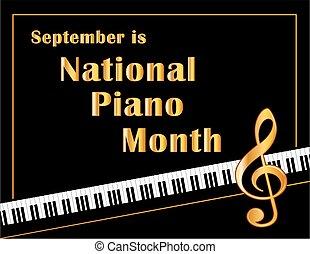 affiche, piano, mois