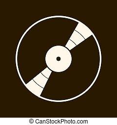 affiche, record., sombre, arrière-plan., vecteur, musique, vinyle