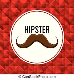 affiche, style, hipster, moustache