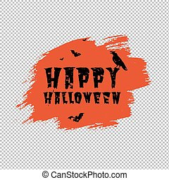 affiche, tache, orange, heureux, halloween