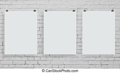 affiche, trois