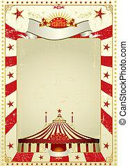 affiche, utilisé, cirque