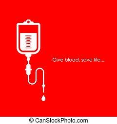 affiche, vie, sauver, sanguine, donner