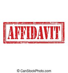 Grunge rubber stamp with word Affidavit, vector illustration
