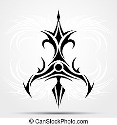 affilato, tribale, tatuaggio