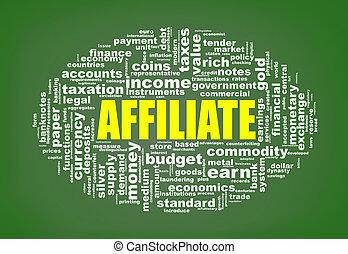 affiliate, markeringen, wordcloud