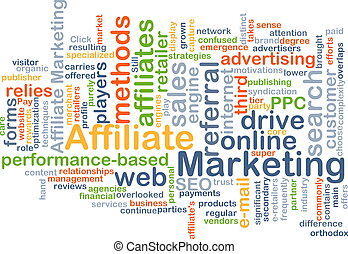 Affiliate marketing background concept