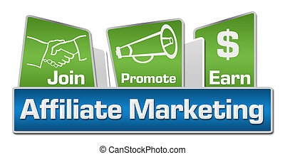 Affiliate Marketing Blue Green - Affiliate marketing concept...