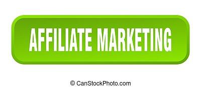 affiliate marketing button. affiliate marketing square 3d push button