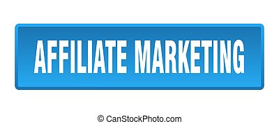 affiliate marketing button. affiliate marketing square blue push button