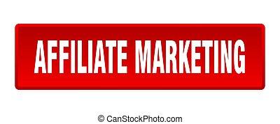 affiliate marketing button. affiliate marketing square red push button