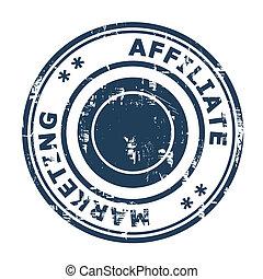 Affiliate marketing concept stamp