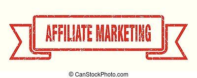 affiliate marketing grunge ribbon. affiliate marketing sign. affiliate marketing banner