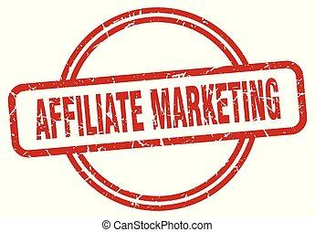 affiliate marketing round vintage grunge stamp