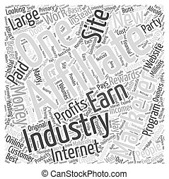 Affiliate Marketing Internet Industry Word Cloud Concept