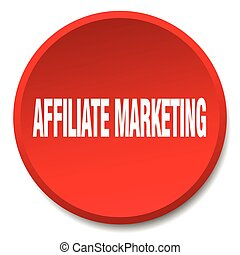affiliate marketing red round flat isolated push button