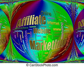 Affiliate Marketing Related Text Design Element as word ...