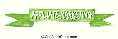 affiliate marketing hand painted ribbon sign