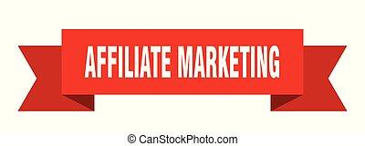 affiliate marketing ribbon. affiliate marketing isolated sign. affiliate marketing banner