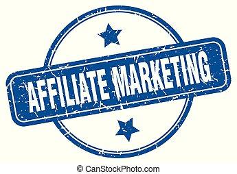 affiliate marketing round grunge isolated stamp
