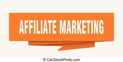affiliate marketing sign. affiliate marketing paper origami speech bubble. affiliate marketing tag. affiliate marketing banner